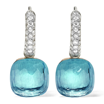 POMELLATO Nudo 18K Topaz And Diamond Earrings