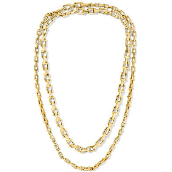 TIFFANY & CO T Chain 18K gold necklace