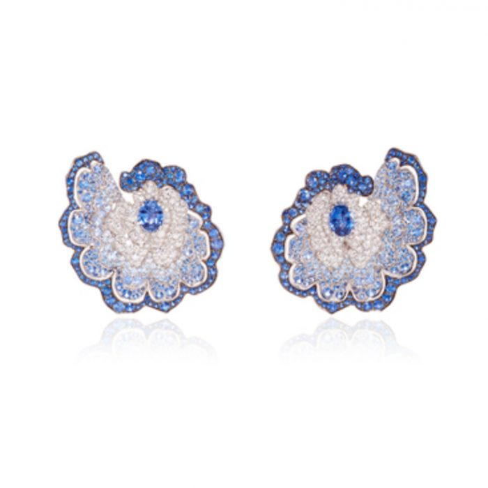 VANLELES 18K Gold Sapphire Earrings