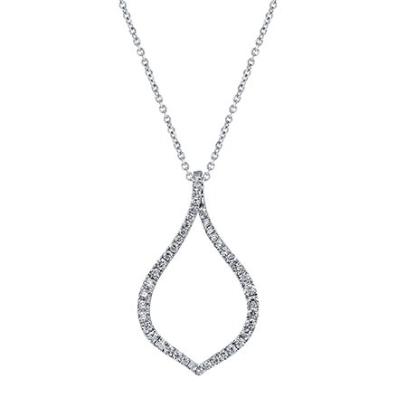 Pendant necklace in 14k white gold with 0.52 ct. t.w. diamonds,