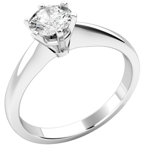 Classic Round Cut Solitaire Diamond Ring