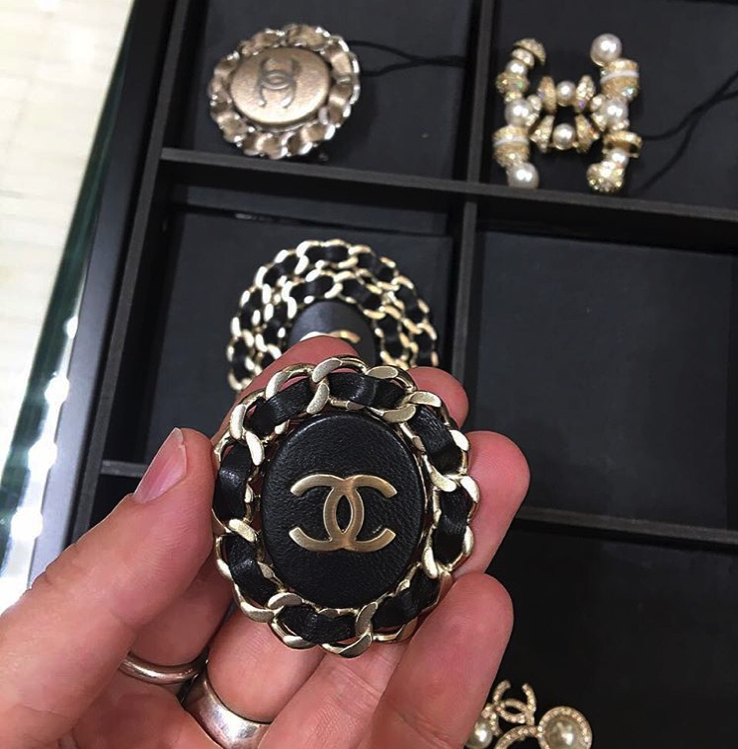 Chic Chanel Leather Woven Chain Earrings